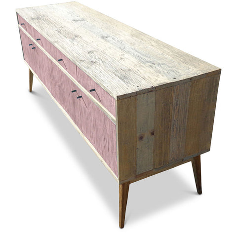 """Once Upon A Queenslander"" Eco Recycled Sideboard / Entertainment Unit in Blush Pink"