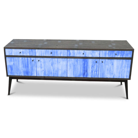 """Once Upon A Queenslander"" Eco Recycled Sideboard / Entertainment Unit in Navy Blue"