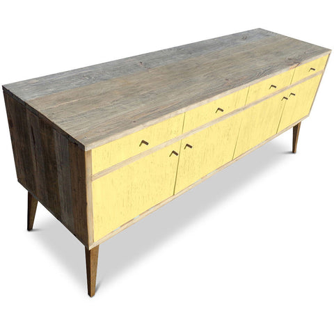 """Once Upon A Queenslander"" Eco Recycled Sideboard / Entertainment Unit in Lemon Meringue"