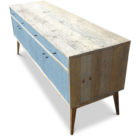 """Once Upon A Queenslander"" Eco Recycled Sideboard / Entertainment Unit in Powder Blue"