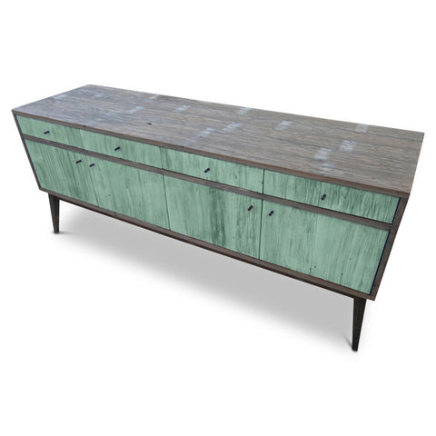 """Once Upon A Queenslander"" Eco Recycled Classic 1960s Retro Mid Century Vintage Scandinavian Sideboard / Entertainment Unit in Teal Green"
