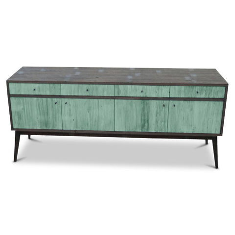 """Once Upon A Queenslander"" Eco Recycled Sideboard / Entertainment Unit in Teal Green"