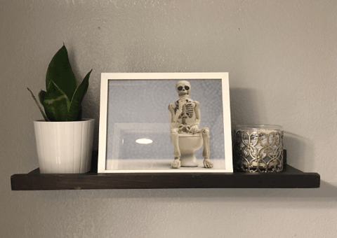 Skeleton Bathroom Prints