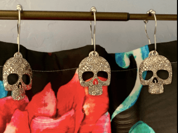 Skull Shower Curtain Hooks