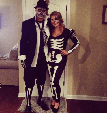 Skeleton Bodysuit Halloween Costume Glow in The Dark