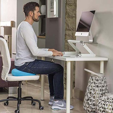 Adjustable Ergonomic Aluminum Laptop Standing Desks with fans