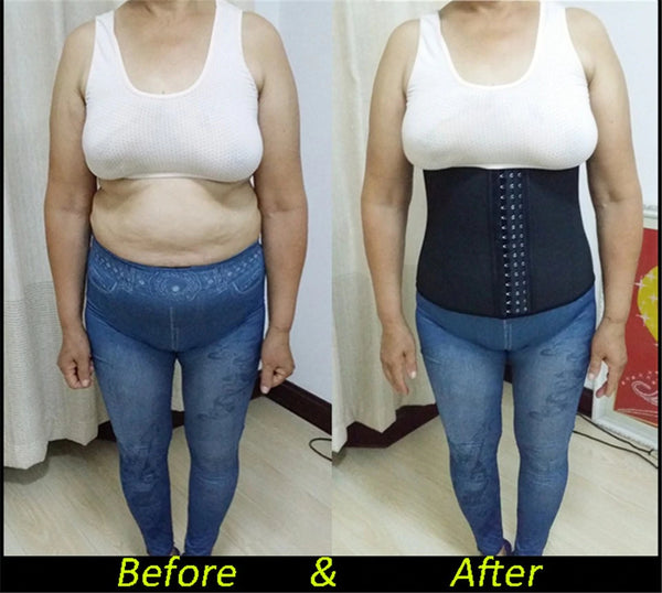 waist trainer before and after
