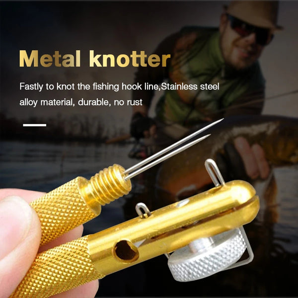 Fast Fish Line Hook Tie Needle Knots Tier Fishing Tool