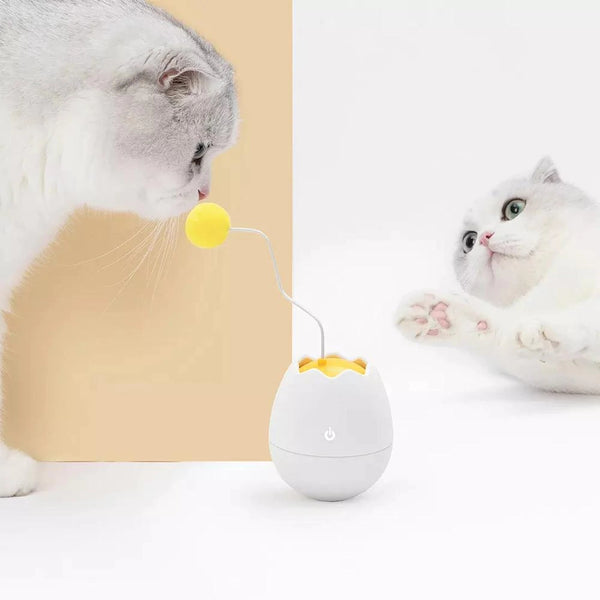 Furrytail Eggshell Electronic Motion Cat Rotating Toy