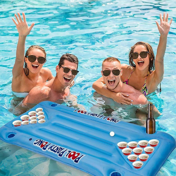 Inflatable Swimming Cup Holder Pool Party Pong Table Game Pool Float