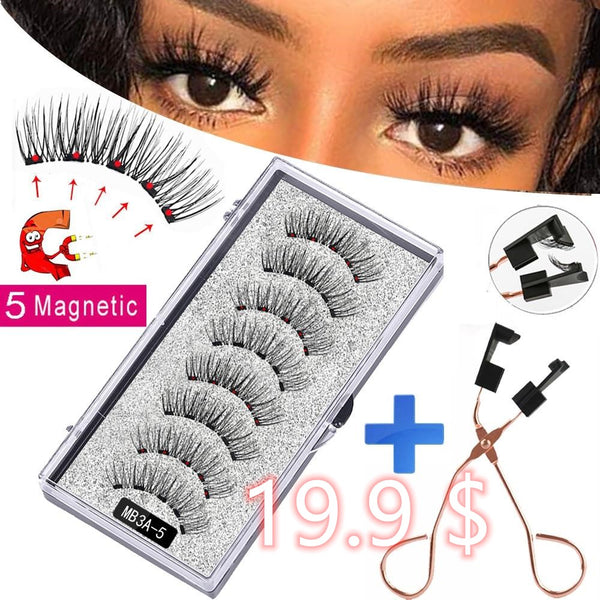 Magnetic Mink False Lashes Natural Thick
