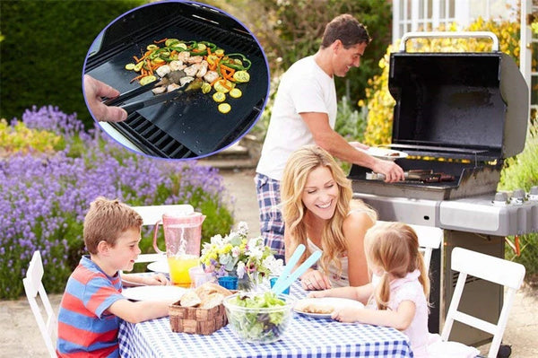 Reusable Non-Stick BBQ Grill Mat Pad Baking Sheet Portable Outdoor Picnic Cooking Barbecue Oven Tool Hot selling
