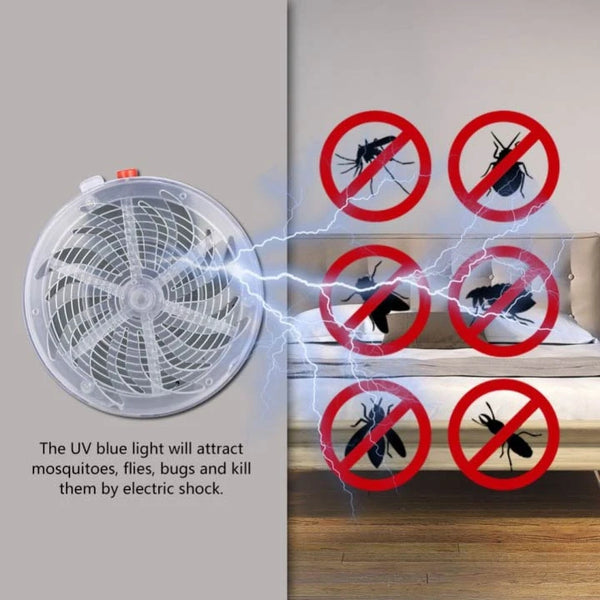 Solar Powered Bug Zapper Fly Insect Mosquito Killer