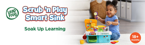 The Scrub and Play Smart Sink  present guide for children