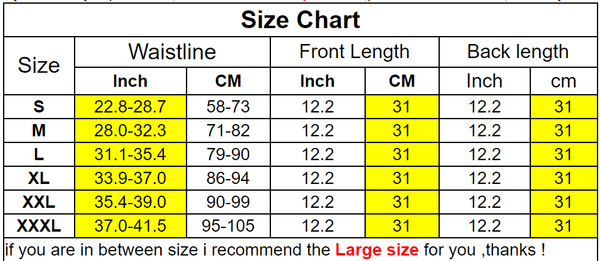 size of waist shaper waist trainer corset