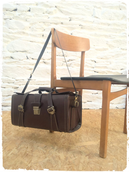 Sac Vintage Simili Cuir Marron