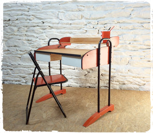 Ensemble Bureau et Chaise Vintage Space Age