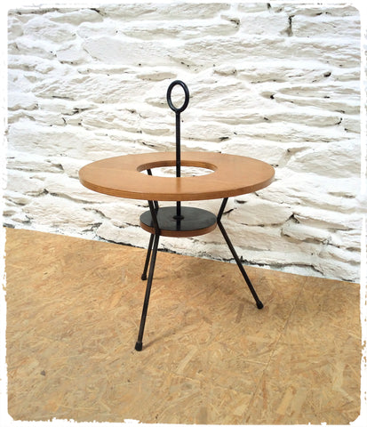 Table Basse Bar Vintage Moderniste Tripode