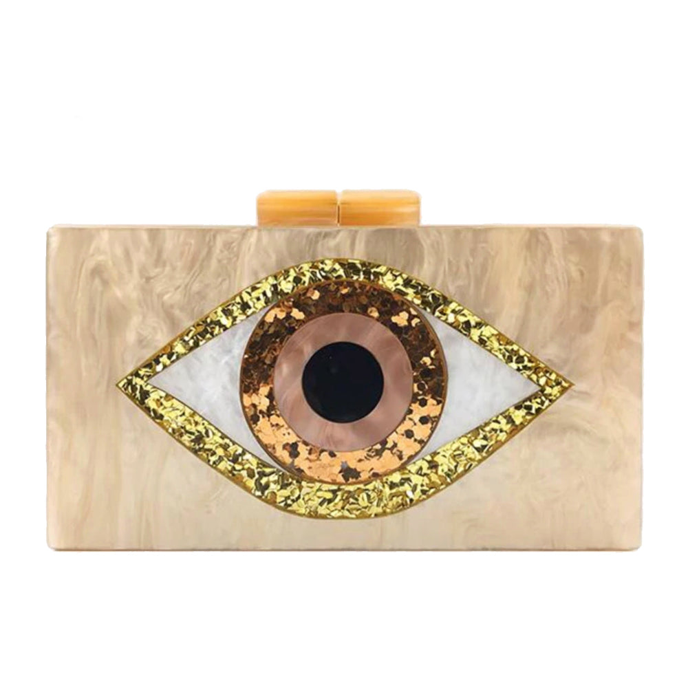 Evil Eye Clutch - Pearl