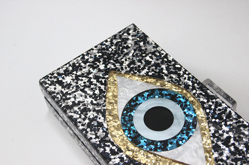 Evil Eye Clutch - Pewter