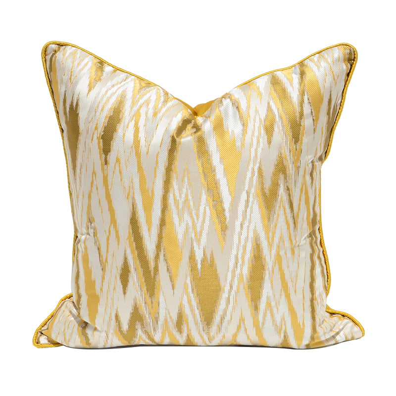 Ikat Satin Cushion Cover