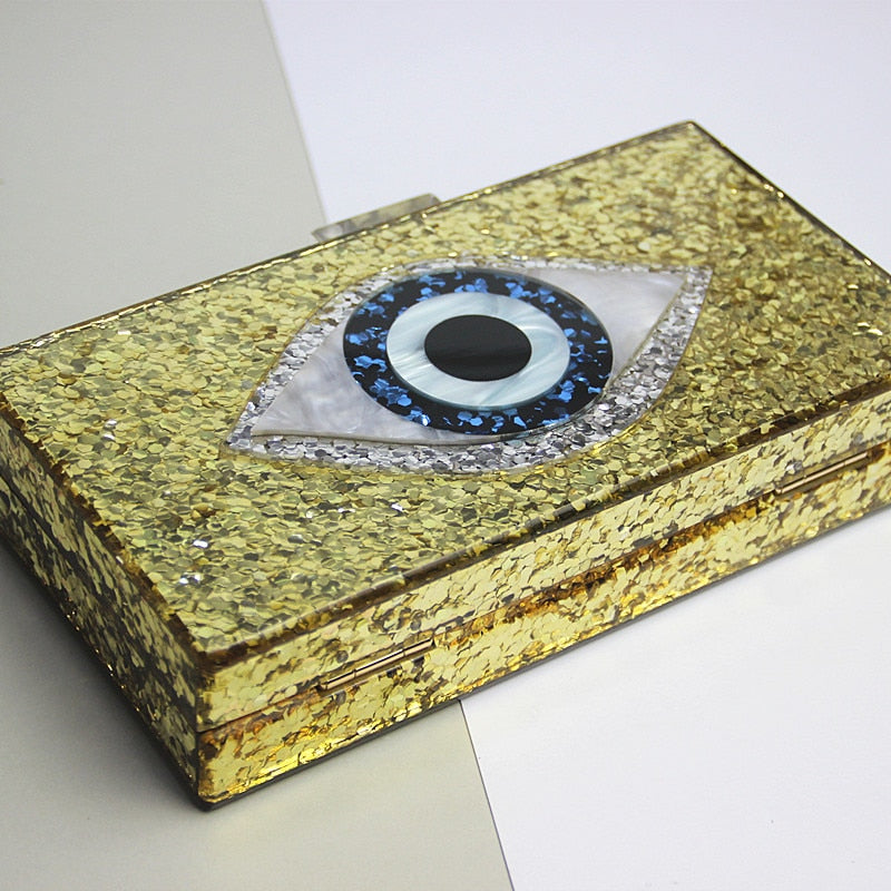 Evil Eye Clutch - Gold