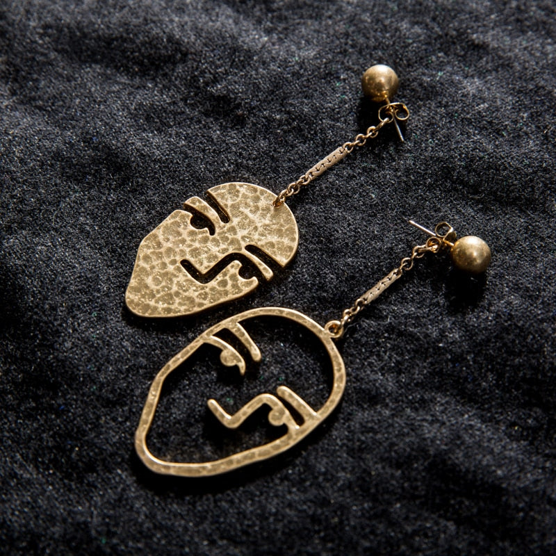 Carollo Face Earrings