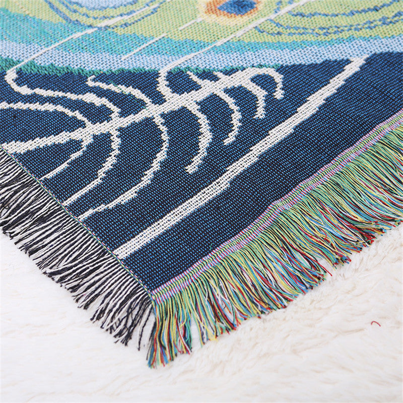 Peacock Cotton Throw