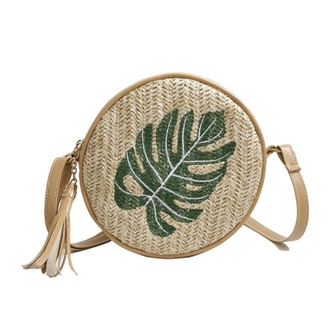 Tropical Embroidery Bag