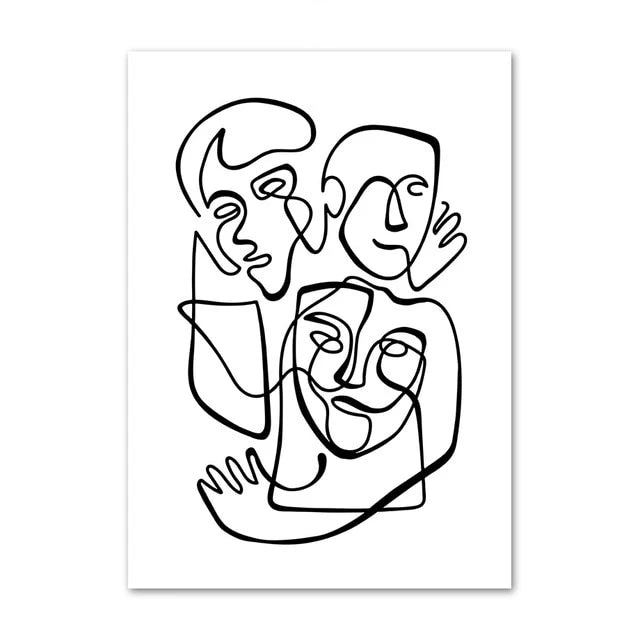 Familia Canvas Art Print