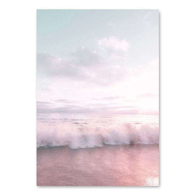 Blush Pacific Canvas Art Print