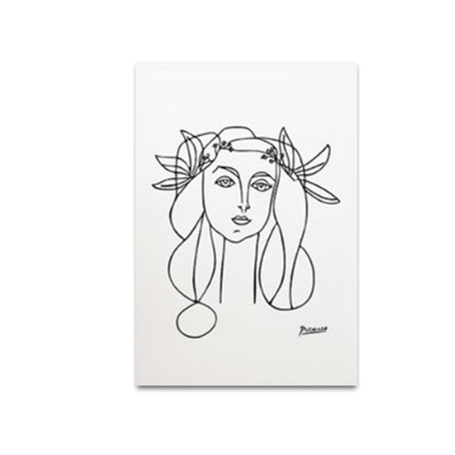 Mabel Portrait Canvas Art Print