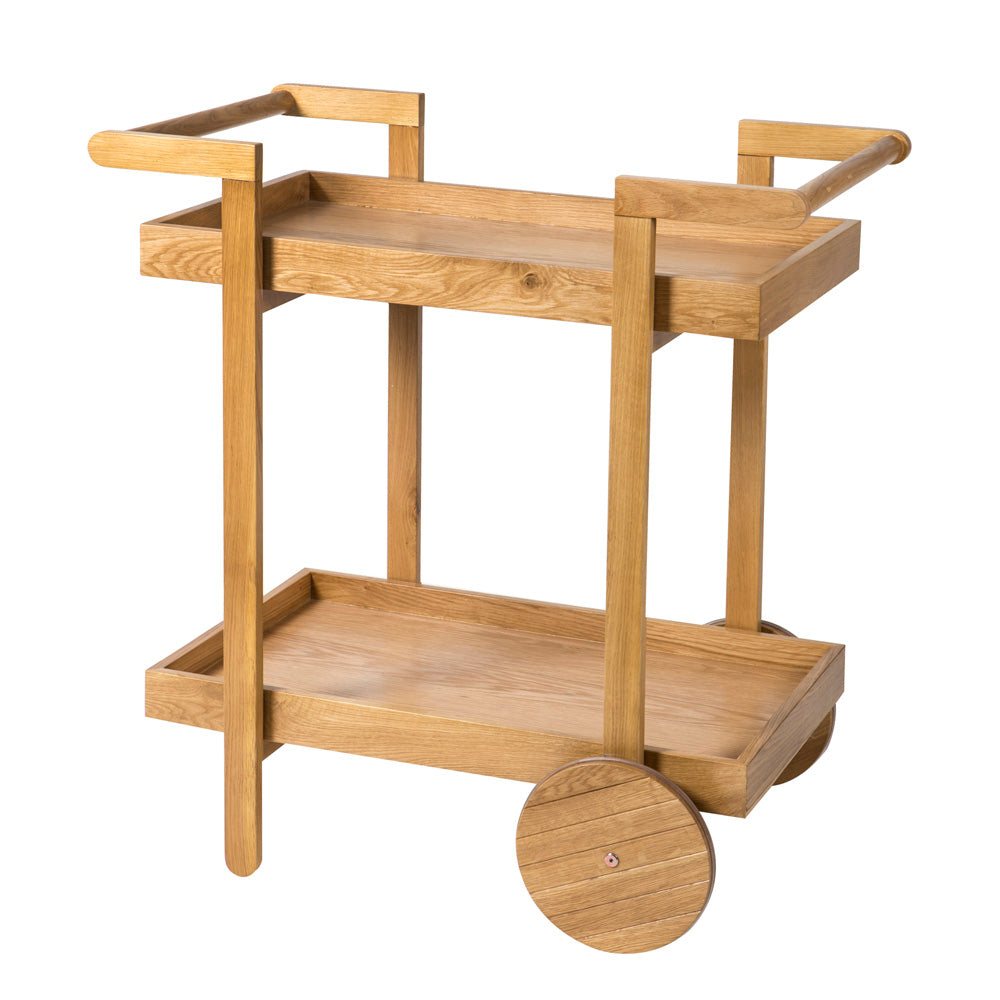 Hemsley Oak Drinks Trolley