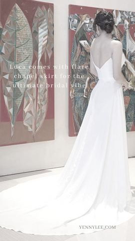7 Types of Wedding Dress Train You Should Choose - Yenny Lee Bridal Couture