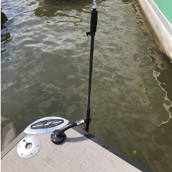 Pontoon Boat System<br>(2) 3 Inch Rise Deck Mounts<br>(2) 10 Ft Anchor Poles
