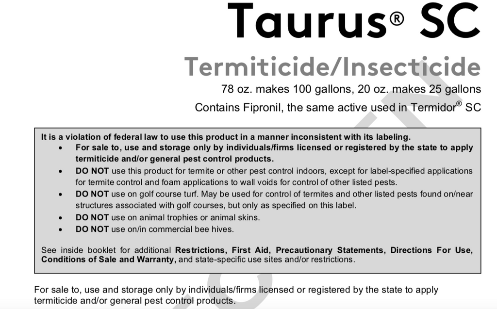 Taurus SC Warning