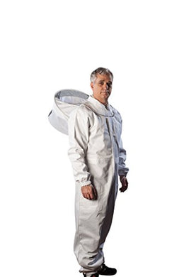 FOREST BEEKEEPING SUPPLY - Premium Cotton Beekeeping Suit with Hood | Suitable for Beginner and Commercial Beekeepers | Includes Metal Brass Zippers | Thumb Straps | Hive Tool Pockets - (XL)