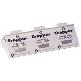 Trapper Insect Trap for Bed Bugs, Roaches, Spiders, Silverfish, More...(90 Traps)