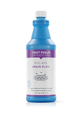 Bye-Bye Drain Flies, All-Natural, Odor Eliminating Drain Fly Killer, Grape Scented (1 Qt)