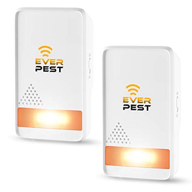 Ultrasonic Pest Repellent Plug-in Indoor/Outdoor (2 Pack)