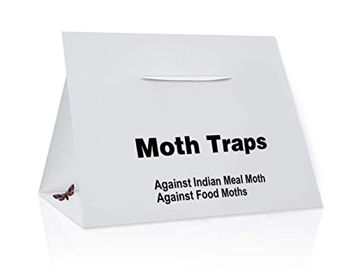 Nimon Premium Non-Toxic Pantry Moth Traps with Pheromone Attractant (8 Pack, White)