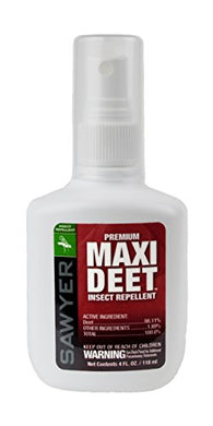 Sawyer Premium Maxi-DEET Insect Repellent Pump Spray, 4-Ounce