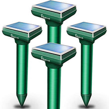 Load image into Gallery viewer, Apello Ultrasonic Mole, Gopher, & Chipmunk Repellent, Solar Powered (4 Pack)
