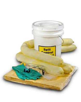 ESP SK-H5 16 Piece 5 Gallons Hazmat Absorbent Spill Kit, 5 Gallons Oil Absorbency