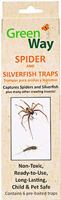 GreenWay Eco-Friendly Spider & Silverfish Trap (6 Traps)