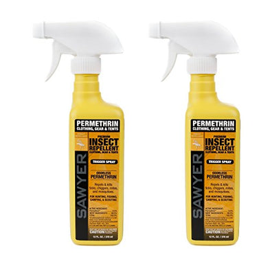 Sawyer Premium Permethrin Clothing Insect Repellent Trigger Spray (Twin Pack, 12 oz.)