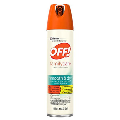 OFF! FamilyCare Insect Repellent I Smooth & Dry (4 oz)