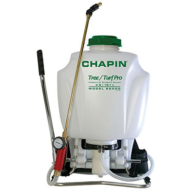 Chapin International 36678 Chapin 62000 Tree/Turf Pro Commercial Backpack Sprayer With Control Flow Valve Technology for Fertilizer, Herbicides and Pesticides, 4 gal, Translucent White