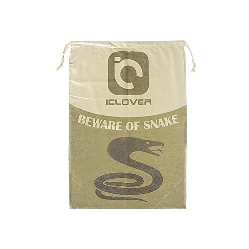 IC ICLOVER Snake Reptile Bag with Drawstring, 20