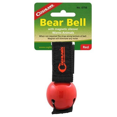 Coghlan's Bear Bell with Magnetic Silencer, Red